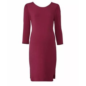 Rosie Pope Maternity 3/4 Sleeve Sheath Dress Small